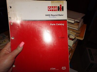 1988 Case 8450 Round Baler Parts Catalog Manual Book 8-4580