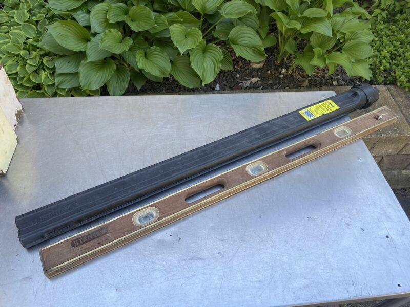"Vintage Stanley 48"" Wood Level 42-348 Case Wooden Antique"