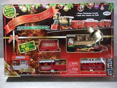 EZTEC Christmas Train set NIB-Never Used/Sealed 53 Pieces Sounds