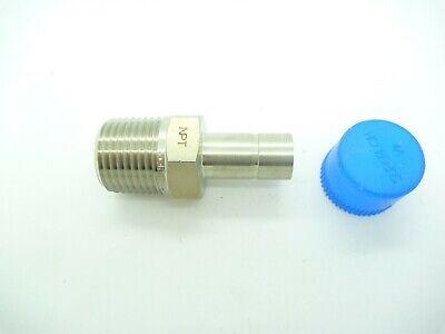 Superlok Sma 8-8n-s316 12 Od Tube Adaptor X 12 Male Pipe 316ss