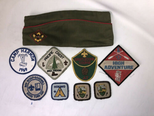 Vintage Boy Scouts Of America Patches & Hat -Cover Lot Pacific Crest 1960's