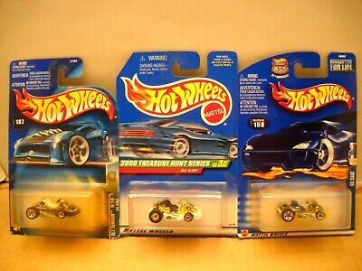 Hot Wheels 2000 Treasure Hunt Alt Terrain Series Go Kart Real Riders Lot
