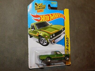 2013 HOT WHEELS DATSUN 620 HW OFF - ROAD GREEN 1:64 Diecast