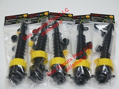 5 Universal Gas Can Spout Kits W Screen Diesel Fuel Gsp Heavy Duty 2 Collars Ea