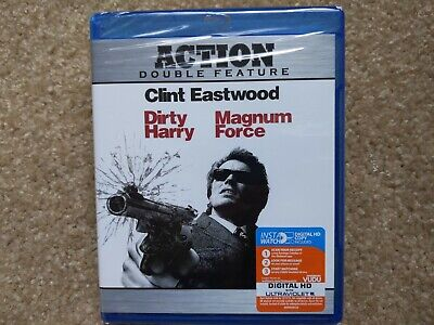 Clint Eastwood Action Double Feature Dirty Harry & Magnum Force (Blu-Ray) - New