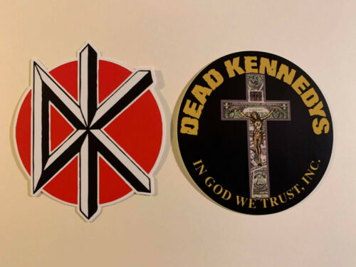 """Lot of 2 DEAD KENNEDYS 3 1/2"""" x 3 1/2"""" Band Logo Stickers FAST! FREE SHIP!"""