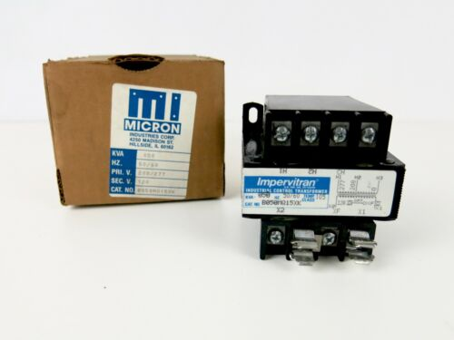 Micron Impervitran B050MQ15XK Control Transformer KVA 050 50/60 208/277 120