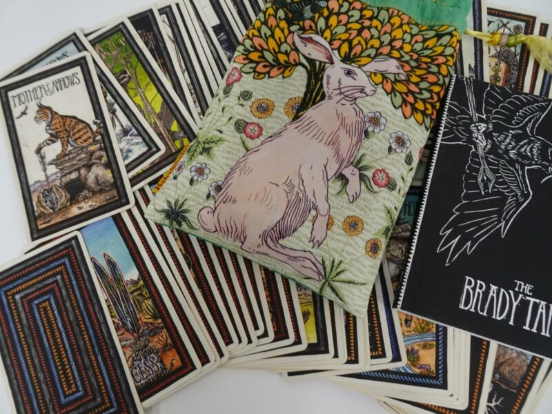 The Emi Brady Tarot 78 Card Deck with Guidebook in Bag North American Gilded