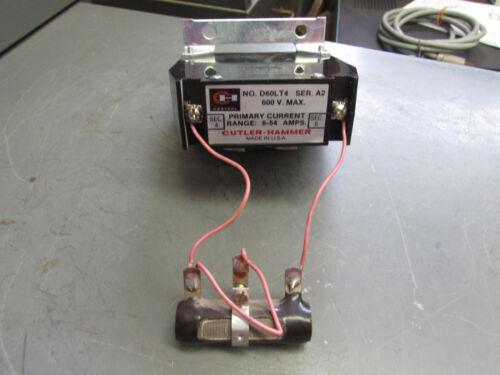 Cutler Hammer D60LT4 Current Transformer 6-54amps w/resistor!