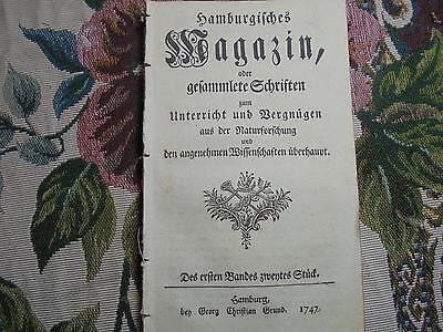 1747 ... Magazin 2 / Seidenzucht / Tollwut Hunde / Astronomie