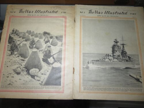 Lot of 2 WWII Original Issues :The War Illustrated Journal: July, August 1941