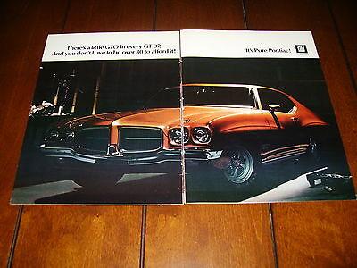 1971 Pontiac Gt 37       Original 2 Page Gt37 Ad