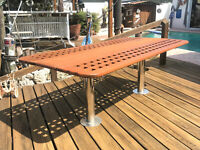 Solid marine Yacht / Boat Teak Table, Deck Table, foldable