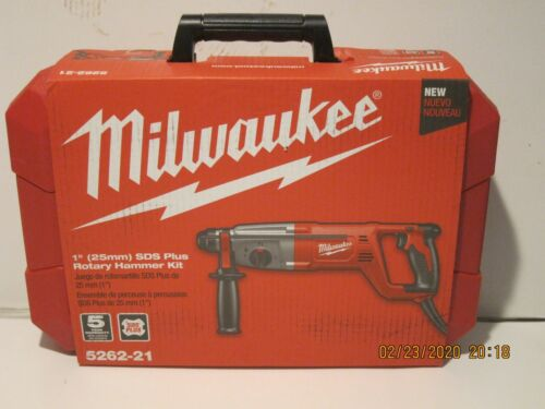 "Milwaukee 5262-21 1"" (25mm)SDS Plus Rotary Hammer Kit FREE SHIP NEW SEALED BOX!!"