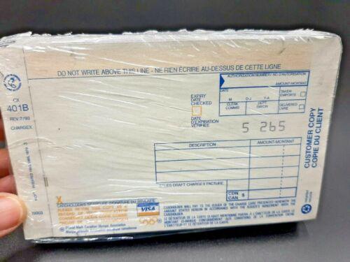 Vintage - Visa Credit Card Receipt Slips - Still in package