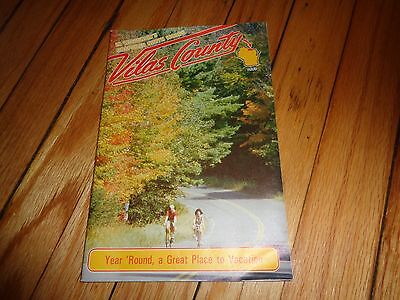 1987 Travel Guide to Vilas County Wisconsin Phelps Eagle River St. Germain