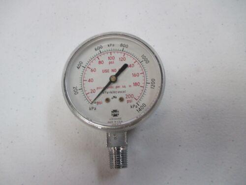 """2-1/2"""" USG® / AMETEK WELDING GAUGE 200 LBS.  OXYGEN REGULATOR US-026 compressor"""