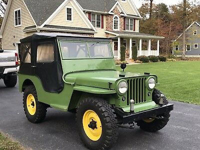1946 Willys  1946 Willys CJ2A Nice Solid Jeep! Garage Queen NO RESERVE! AWESOME JEEP DRIVER