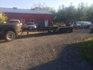 Flat bed Tri axel trailer