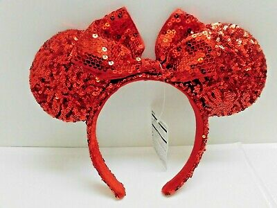 In Hand Tokyo Disney Resort Headband Minnie Mouse Spangle Red New Release 2019](Minnie Mouse Hands)