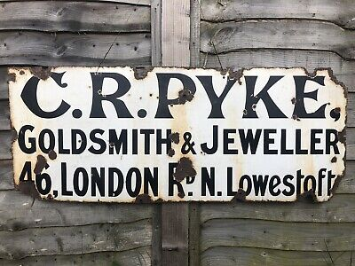 Vintage Enamel Sign Early 1900s