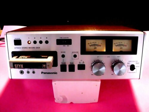 8 TRACK PLAYER PANASONIC RS-808  WORKING PERFECT,CLEAN   TECH SERVICED