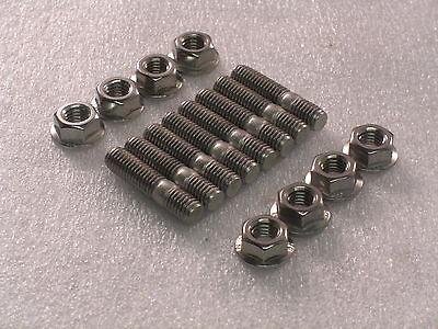 8x M8 Stainless Steel Exhaust Studs + Flange Nuts Suzuki Bandit Yamaha Fazer