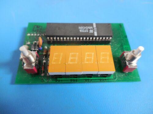Teltec 245439-001 4-Digit LED Display Board 01V3793 w/ HP 5082-7621 Displays