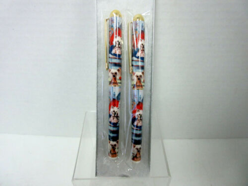 New Chinese Crested Dog Designer Pen Set in Gift Box - 2 Pens - Ruth Maystead