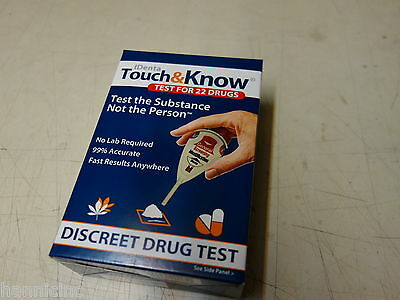 Identa Touch   Know Discreet Home Drug Test For 22 Drugs Exp 11 2018 Pot Heroine