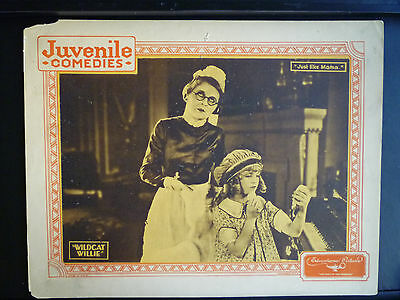 1925 WILDCAT WILLIE - VINTAGE LOBBY CARD - OUR GANG CLONES - SILENT COMEDY SHORT