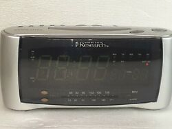 Emerson Research Atomic Clock Dual Alarm AM/FM Radio 9X3.5 CKA1100 Rare