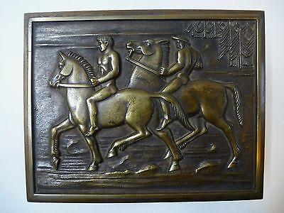 Art Deco Schatulle Dose Kasten Kästchen Pferd Messing Erhard und Söhne um 1930