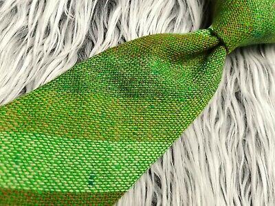 Vintage KEVIN & HOWLIN DUBLIN Donegal Tweed GREEN STRIPED WOVEN IN IRELAND TIE