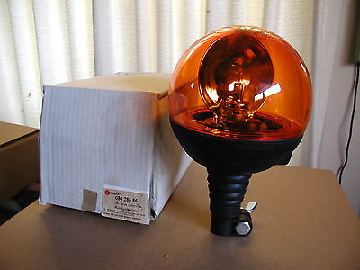 Tractor Din Pole Rotating Beacon Ermax 24v Amber