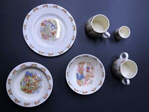 Royal Doulton  Bunnykin baby dishes