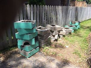 Free concrete patio and chimney blocks