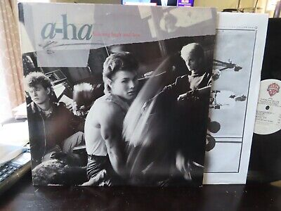 """TOP COPY UNPLAYED - A-HA """"HUNTING HIGH AND LOW"""" LP . NEAR MINT VINYL 1985 NICE!"""
