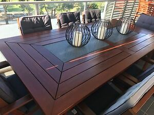 9 Piece Wooden outdoor setting Botany Botany Bay Area Preview