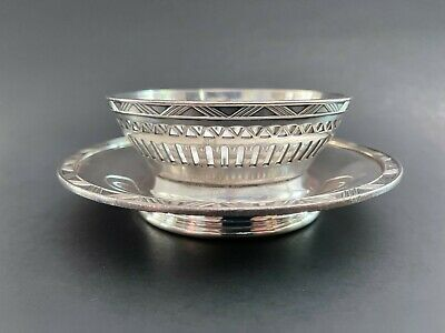 DOLLAR STEAMSHIP LINES    Onboard Service Silver Plate Compote