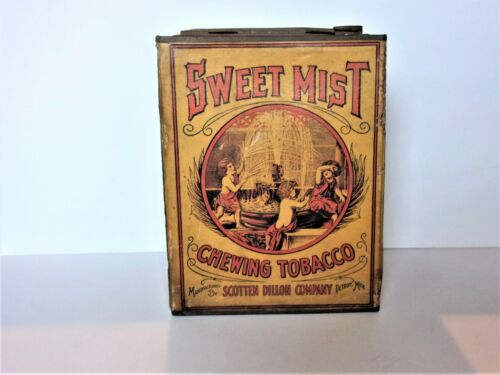 RARE Antique Sweet Mist Chewing Tobacco Tin Mfg. By Scotton Dillon Co.