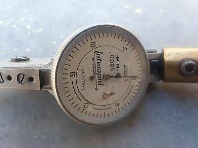 .0005 Interapid Dial Indicator Swiss Made Precision Machinist Tool 312b-2