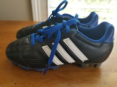ece50fb36 Young Boys Adidas Soccer Cleats Shoes Black and Blue Size 13