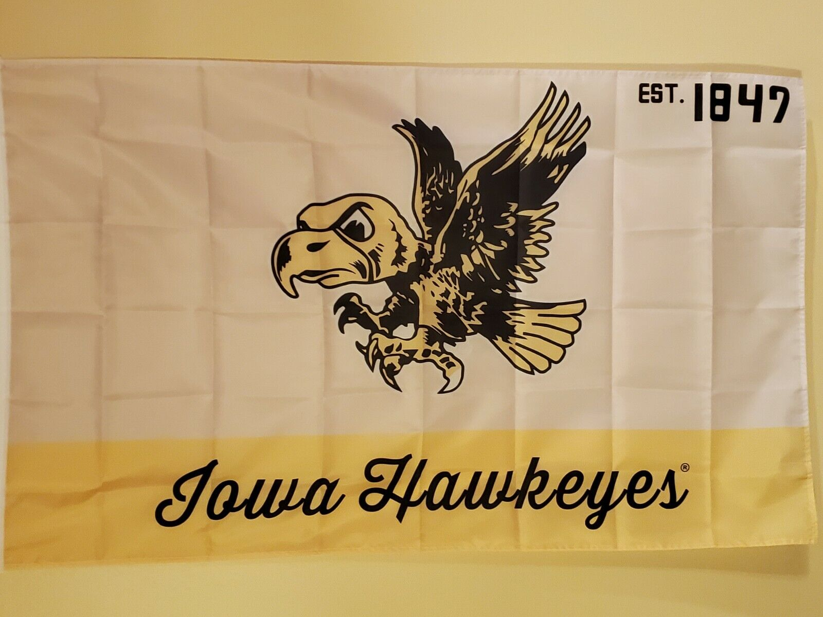 University Iowa Hawkeyes Vintage Style Flag  # 123