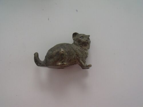 VTG Vienna Austria Bronze Cat, Signed Geschütz