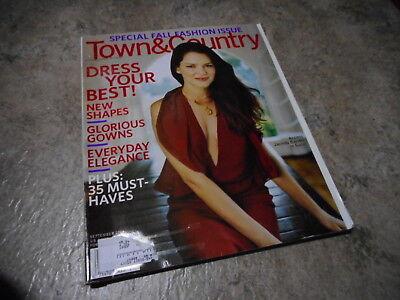 SEPT 2006 TOWN AND COUNTRY vintage fashion magazine JACINDA BARRETT