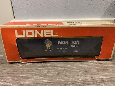 VINTAGE LIONEL TRAIN BILLBOARD HOPPER CAR ADVERTISING MORTON SALT MODEL 6-9114