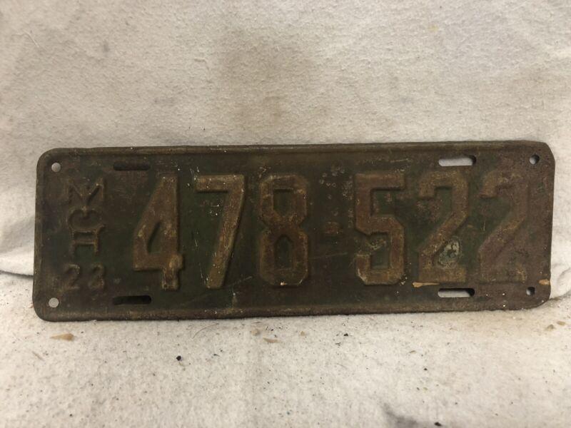 Vintage 1923 Michigan License Plate