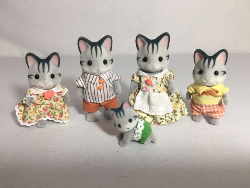 Calico Critters/sylvanian Families Harvey Cat Family Of 5