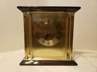 - NEW Howard Miller Desk Clock MSU MICHIGAN STATE Embossed Free Ship Mantel Father